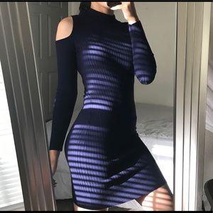 Tight Navy Blue Winter Dress ❄️